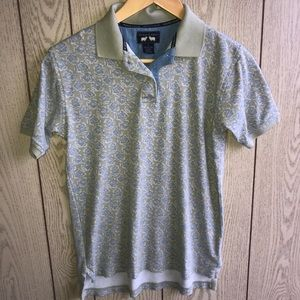 Vtg Woods & Gary polo style shirt small